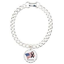 Personalized Fallen Hero Charm Bracelet, One Charm