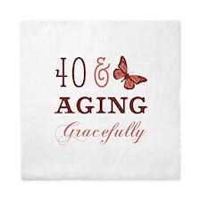40 & Aging Gracefully Queen Duvet