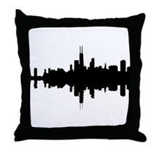 Reflections of Chicago Throw Pillow