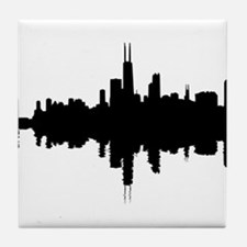 Reflections of Chicago Tile Coaster
