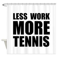 More Tennis Shower Curtain