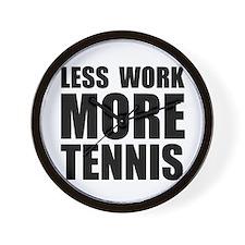 More Tennis Wall Clock