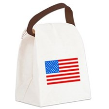 American Flag Light Blue 4th of July Pie Canvas Lu
