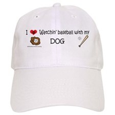 watchin baseball with my dog Baseball Baseball Cap