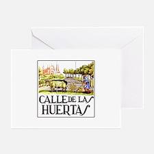 Calle Huertas, Madrid - Spain Greeting Cards (Pack