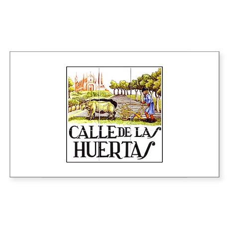 Calle Huertas, Madrid - Spain Sticker (Rectangular