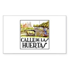 Calle Huertas, Madrid - Spain Sticker (Rectangular