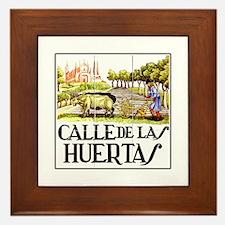 Calle Huertas, Madrid - Spain Framed Tile