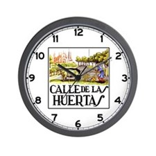 Calle Huertas, Madrid - Spain Wall Clock