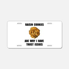 Raisin Cookie Aluminum License Plate