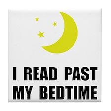 Read Past Bedtime Tile Coaster