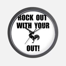 Rock Out Rooster Wall Clock