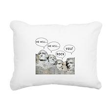 Rushmore Rock You Rectangular Canvas Pillow