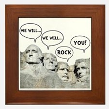 Rushmore Rock You Framed Tile