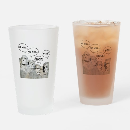 Rushmore Rock You Drinking Glass