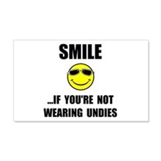 Smile Undies Wall Decal