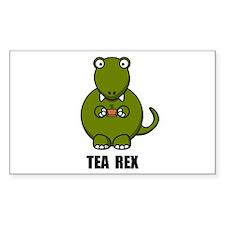 Tea Rex Dinosaur Decal
