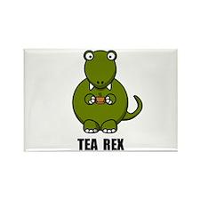 Tea Rex Dinosaur Rectangle Magnet (10 pack)