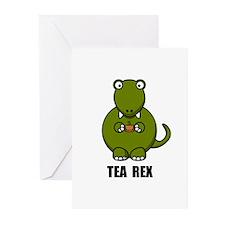 Tea Rex Dinosaur Greeting Cards (Pk of 10)