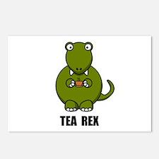 Tea Rex Dinosaur Postcards (Package of 8)