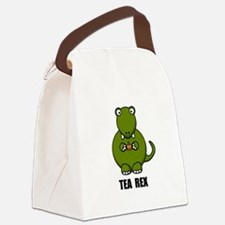 Tea Rex Dinosaur Canvas Lunch Bag