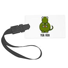 Tea Rex Dinosaur Luggage Tag