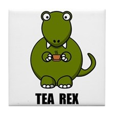 Tea Rex Dinosaur Tile Coaster