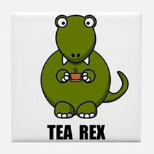 Tea Rex Dinosaur Tile Coaster