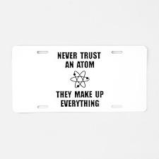 Trust Atom Aluminum License Plate