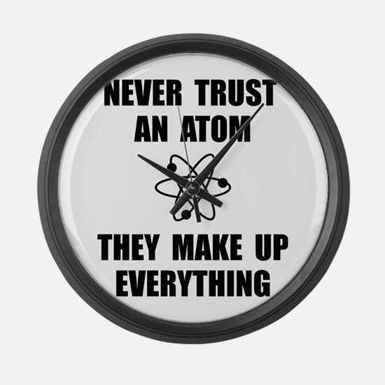 Trust Atom Large Wall Clock