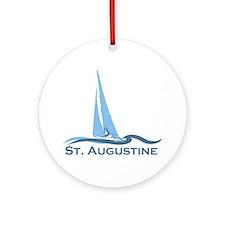 St. Augustine - Sailing Design. Ornament (Round)