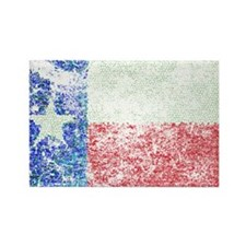 Vintage Texas Flag Rectangle Magnet (10 pack)
