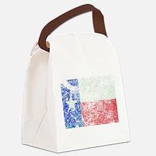 Vintage Texas Flag Canvas Lunch Bag
