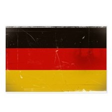 antiqued German flag Postcards (Package of 8)