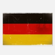 antiqued German flag Postcards (Package of 8)