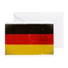 antiqued German flag Greeting Card