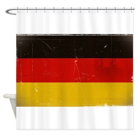 antiqued german flag shower curtain by synkkaenkeli. Black Bedroom Furniture Sets. Home Design Ideas