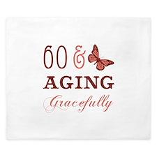 60 & Aging Gracefully King Duvet