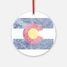 Vintage Colorado Flag Ornament (Round)