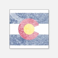 "Vintage Colorado Flag Square Sticker 3"" x 3"""