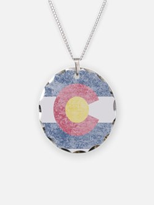 Vintage Colorado Flag Necklace