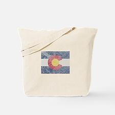 Vintage Colorado Flag Tote Bag
