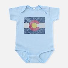 Vintage Colorado Flag Infant Bodysuit