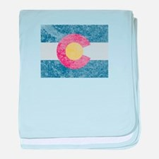 Vintage Colorado Flag baby blanket