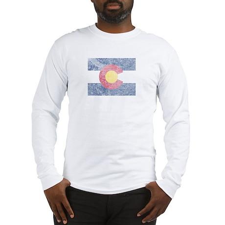 Vintage Colorado Flag Long Sleeve T-Shirt