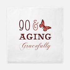 90 & Aging Gracefully Queen Duvet