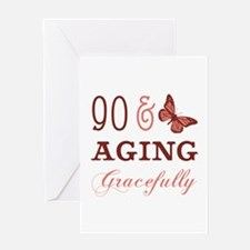 90 & Aging Gracefully Greeting Card