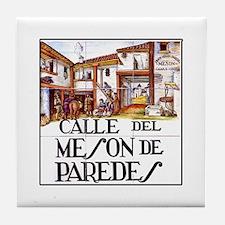 Calle Mesón de Paredes, Madrid Tile Coaster