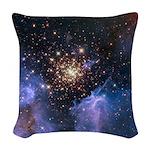 Starburst Cluster Woven Throw Pillow