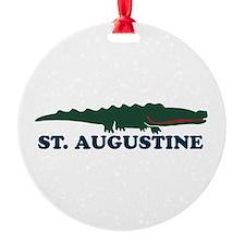 St. Augustine - Alligator Design. Ornament